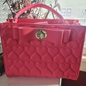 Betsey Johnson Quilted Heart Purse Y2k